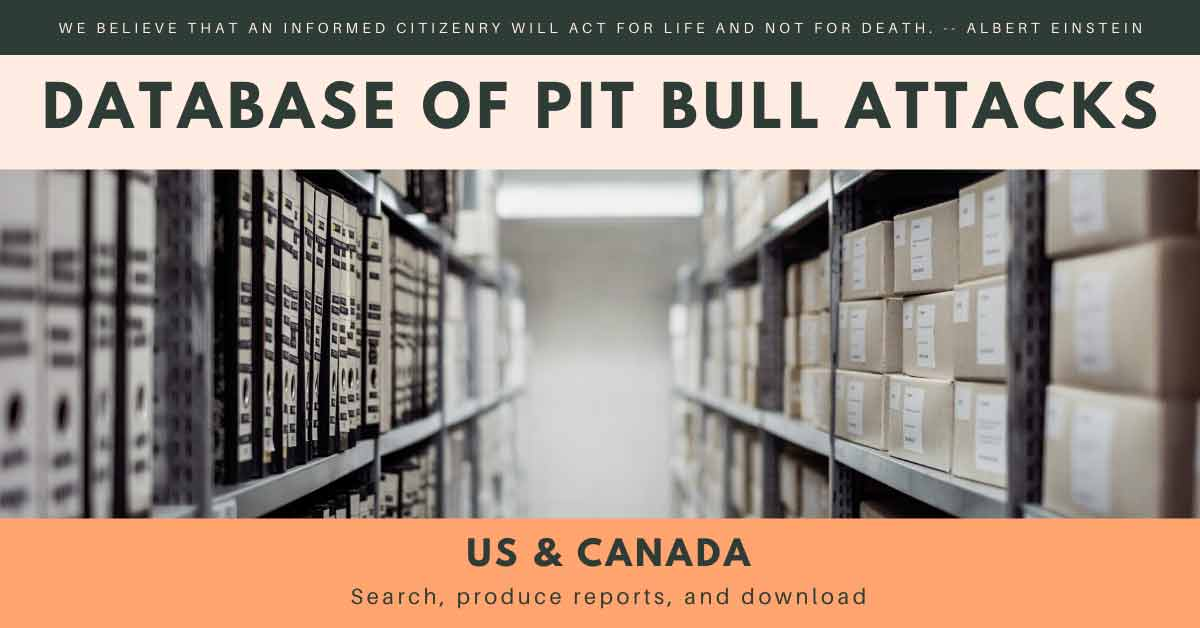 database of pit bull attacks and deaths