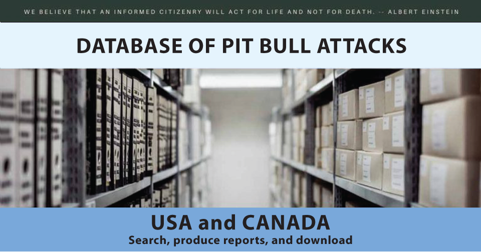 Searchable Pit Bull Attack Database Media Reports